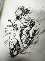 Predator Rider #inktober2014