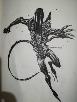 Alien#inktober2017
