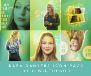 Kara Danvers Icon Pack by irwinthegod
