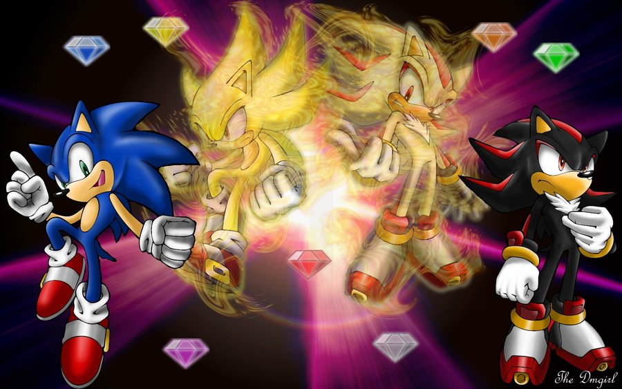 Super Sonic And Shadow By Redshadow114 On Deviantart
