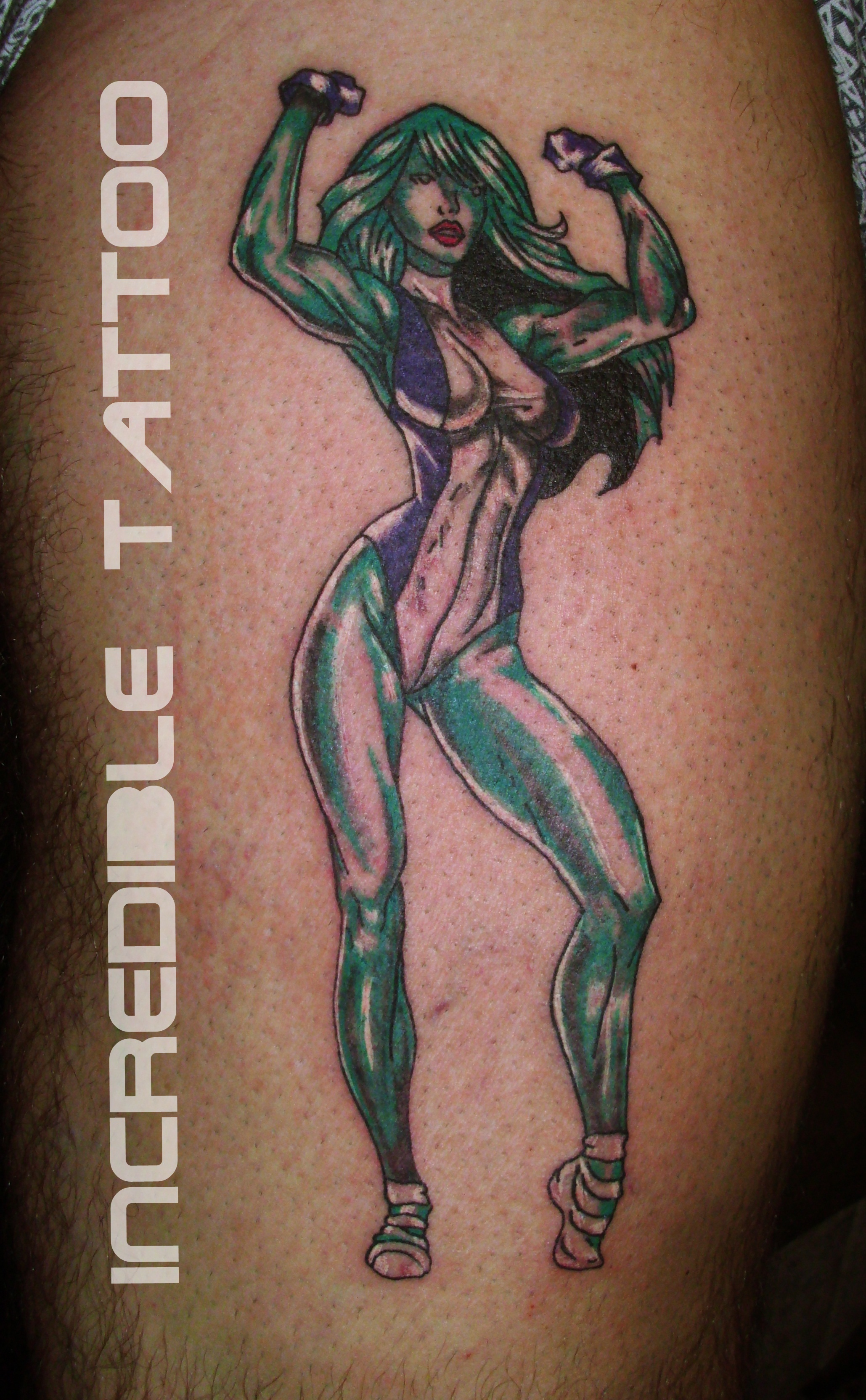 Tattooed she hulk