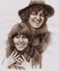 Fourth Doctor Who and Sarah Jane by baslergrafik