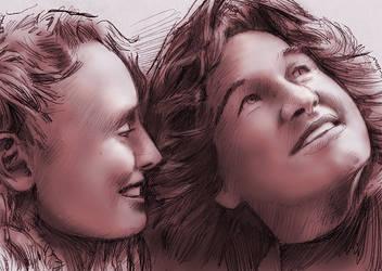 Laura Haddock / Kurt Russell by baslergrafik