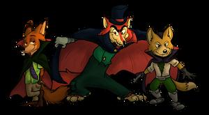 Vampire Foxes by ChelsMerrell