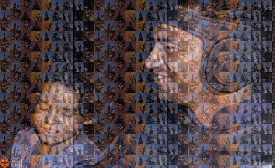 Father Son Mosaic by AxelHonoo
