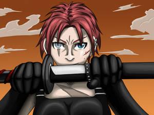 Hilda ready to fight - Vileland Artwork
