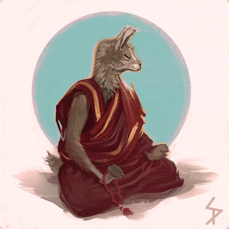Dalai Lama by ameoname