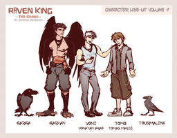 RAVEN KING Characters (START READING WEBCOMIC NOW) by ameoname