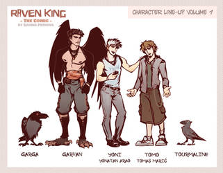 RAVEN KING Characters (START READING WEBCOMIC NOW)