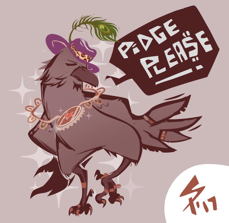 pimpy crow by ameoname