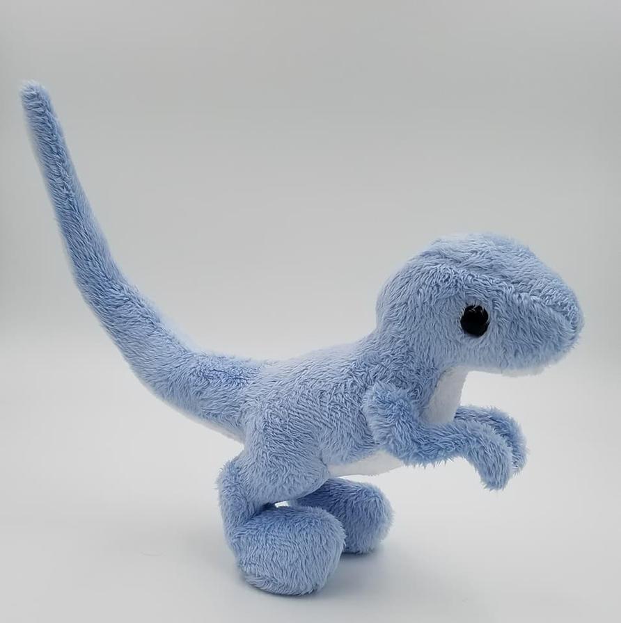 Blue Raptor Plush Dinosaur by Lunarchik13