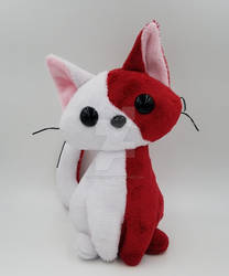 Red and White Kitty Plush