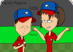 Papa's Pizzeria workers
