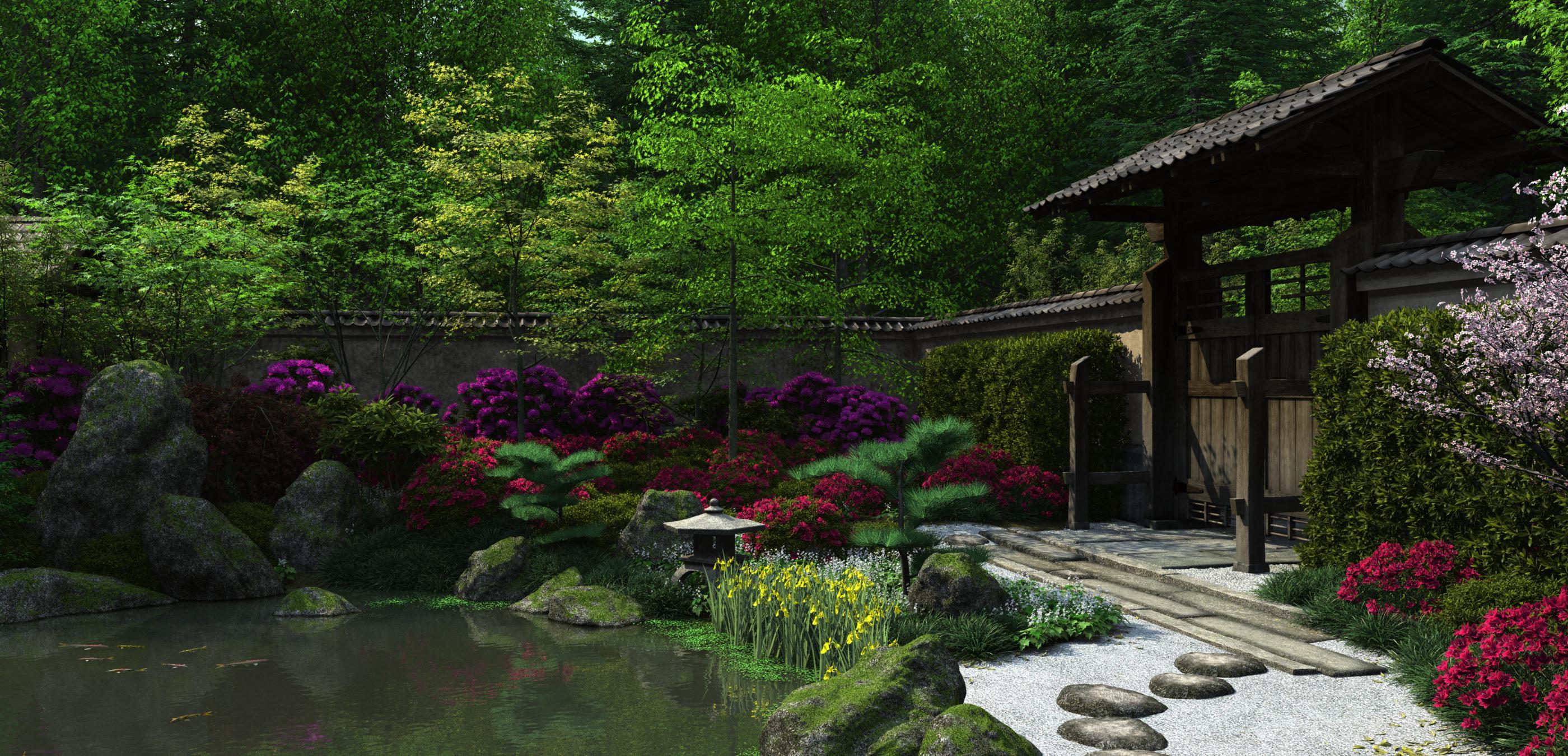 Japanese garden by jules2626 on deviantart for A japanese garden