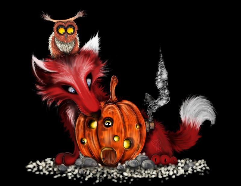 Halloween Friends by BuntschwarzSue