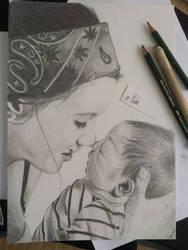 baby and mumy by BuntschwarzSue