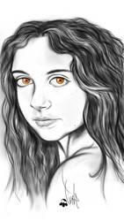 brown eyes by BuntschwarzSue