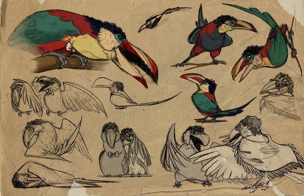 Toucans by captainhawkeh