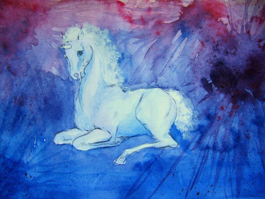 Unicorn foal by Ronja-poni