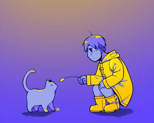 a boy and his friend by Lyriziak