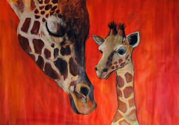 Giraffe family by lisa-malt