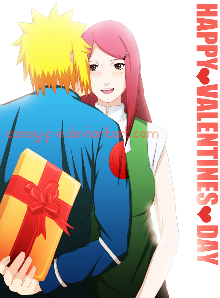 Valentines-Day-Kiss Minato x Kushina by Cassy-F-E