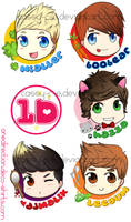 One Direction Cute Buttons