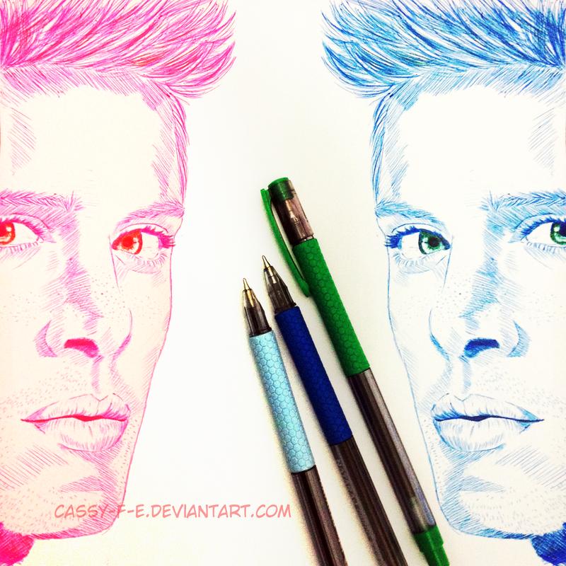 Pen sketch - Dean Winchester by Cassy-F-E