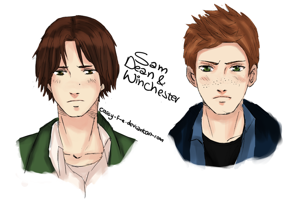 Sam and Dean Winchester by Cassy-F-E