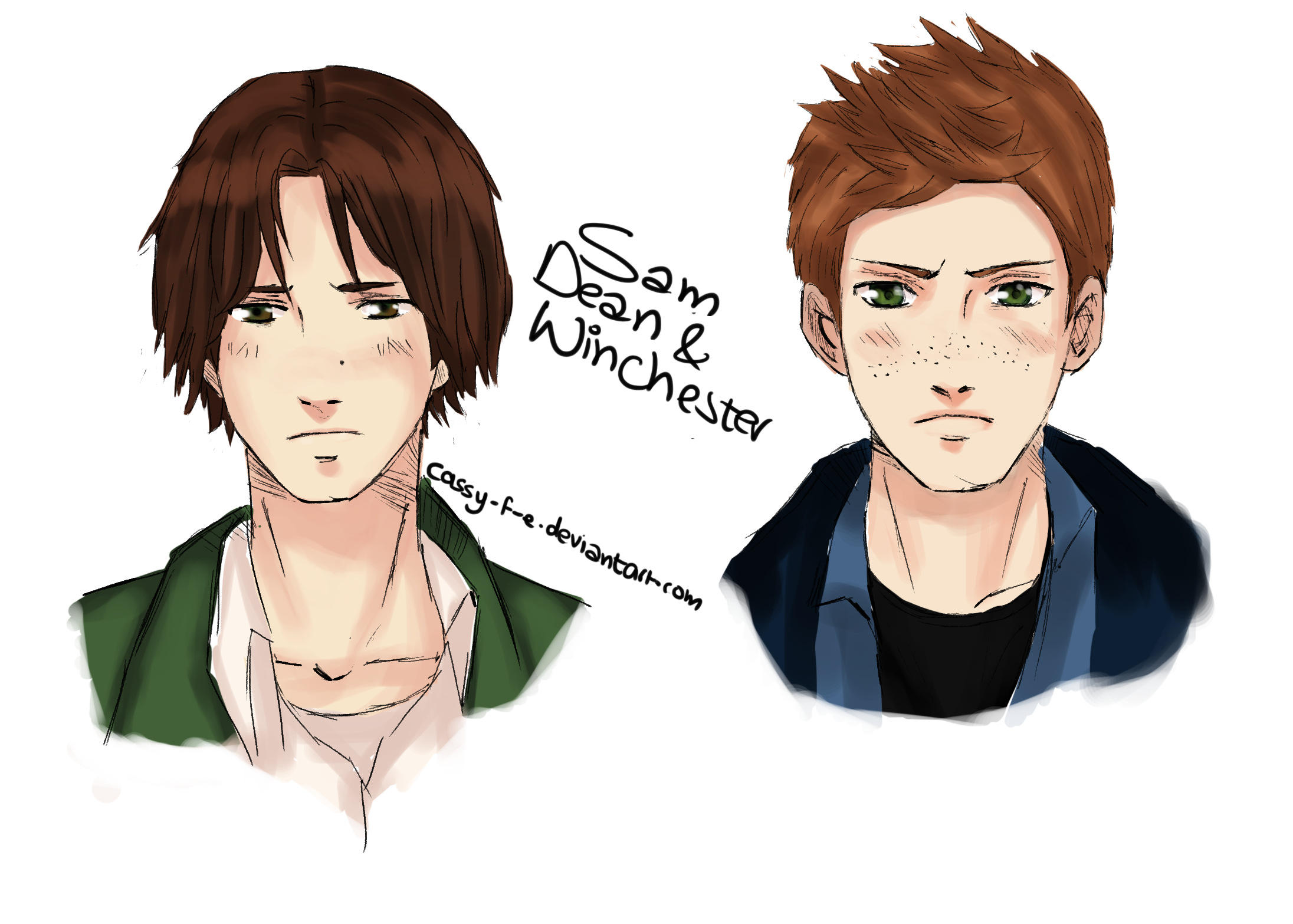 Supernatural Sam And Dean Winchester Fan Art By Sam And Dean