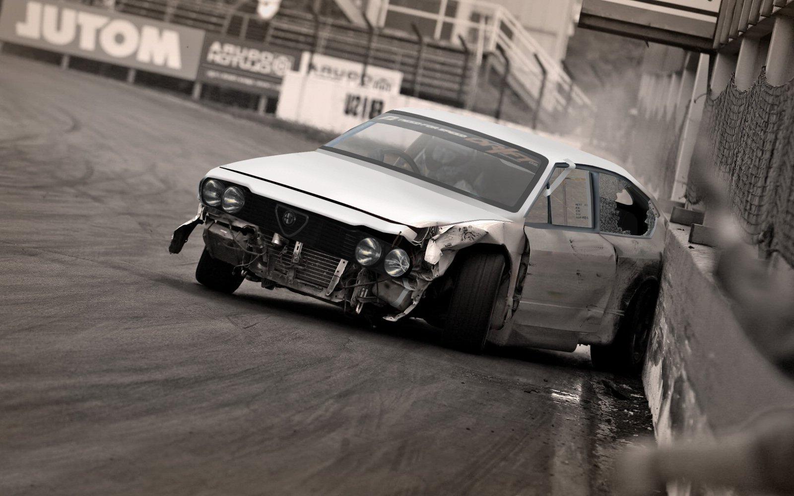 Alfa Romeo Gtv Drift Crash By Sale