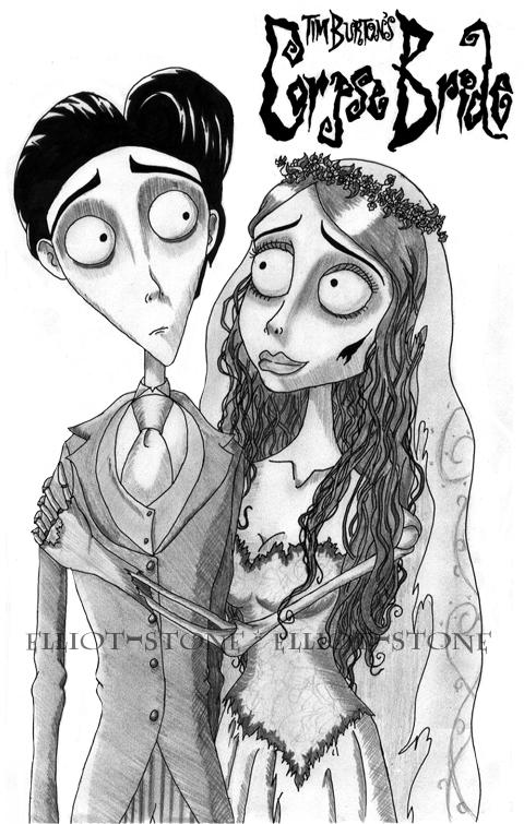 This is an image of Decisive corpse bride coloring pages