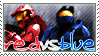 Stamp: RedvsBlue fan by Nawamane