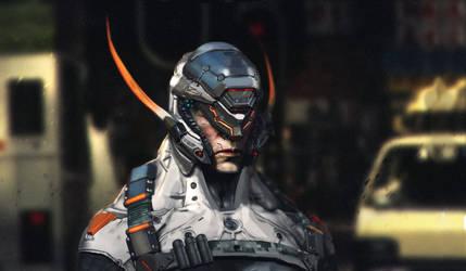 Cyborg dude by fatias