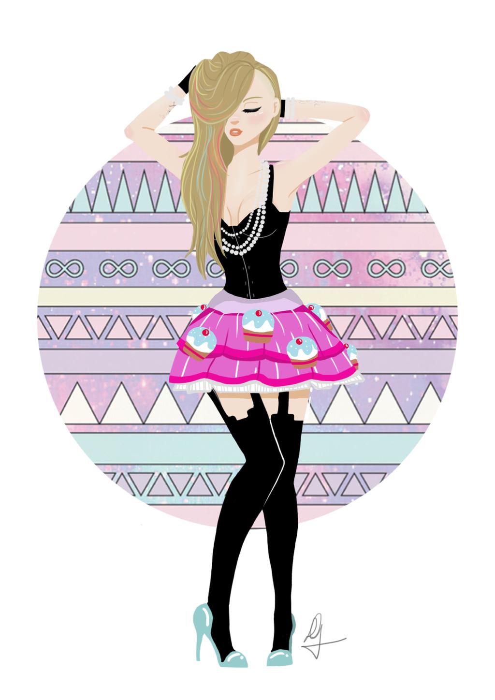 Hello Kitty Fan : Avril lavigne hello kitty fan art by magallih on deviantart