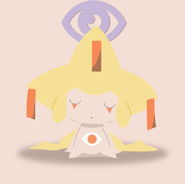 Shiny Jirachi Minimalist by Yeongy7