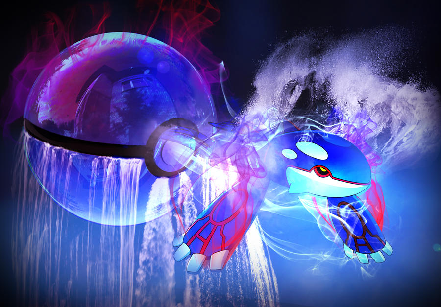 Kyogre Pokeball by Yeongy7