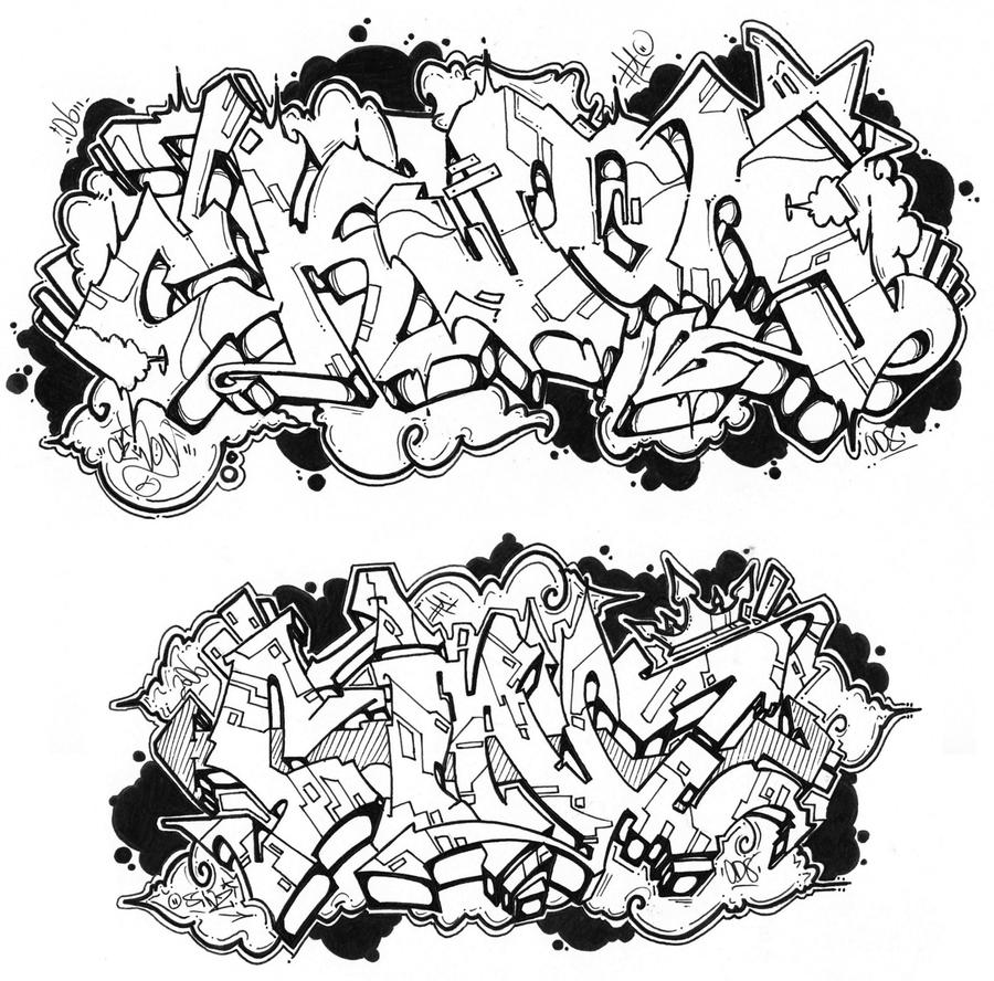 Printable Graffiti Coloring Pages Sketch Coloring Page