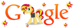 Sunset Shimmer Pony Google Logo (Install Guide!) by Owl-Parchment