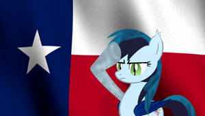 Zephyr and the Texas Flag by Owl-Parchment
