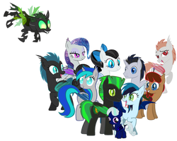 Sera Bat-pony Family (Constantly Updated!) by Owl-Parchment