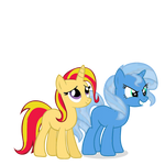 Trixie and Sunset Shimmer - Color Swap