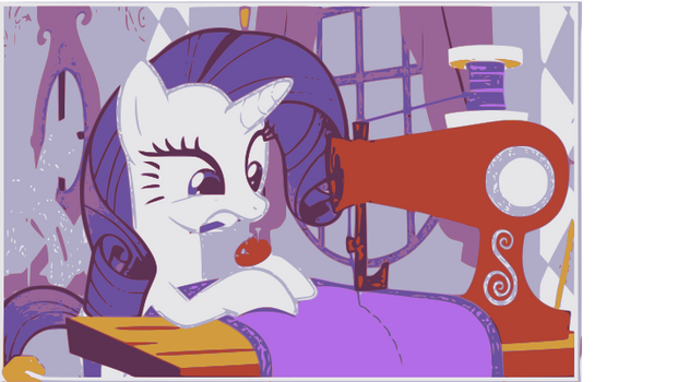 Rarity and her Sewing Machine