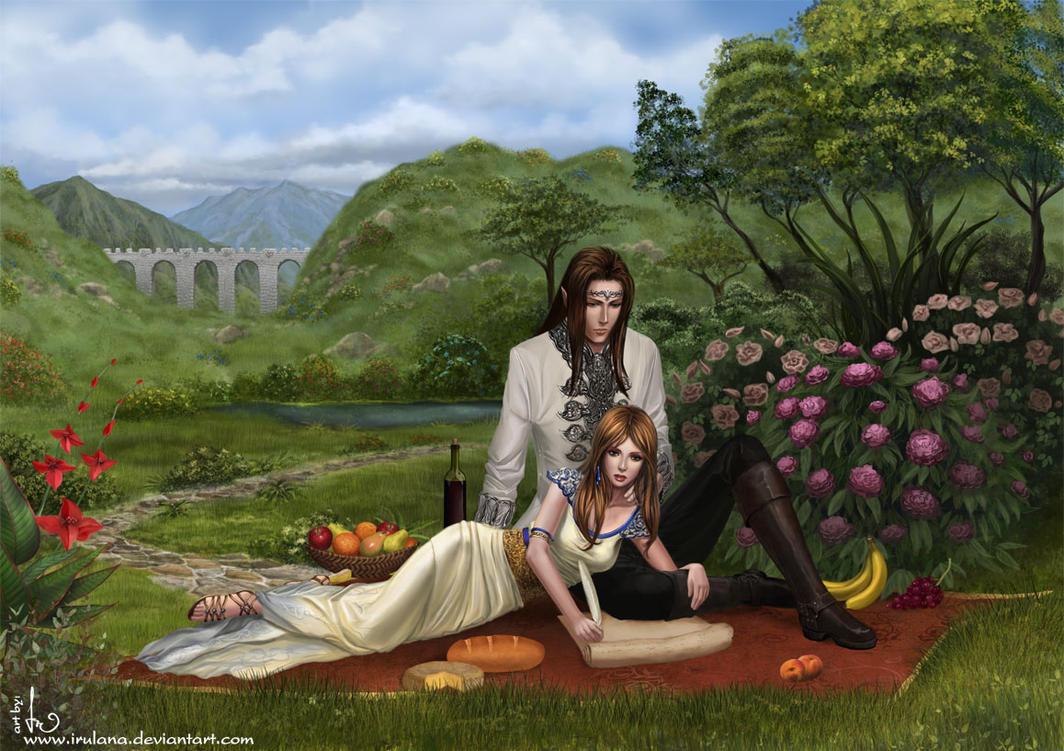 In the Garden by Irulana