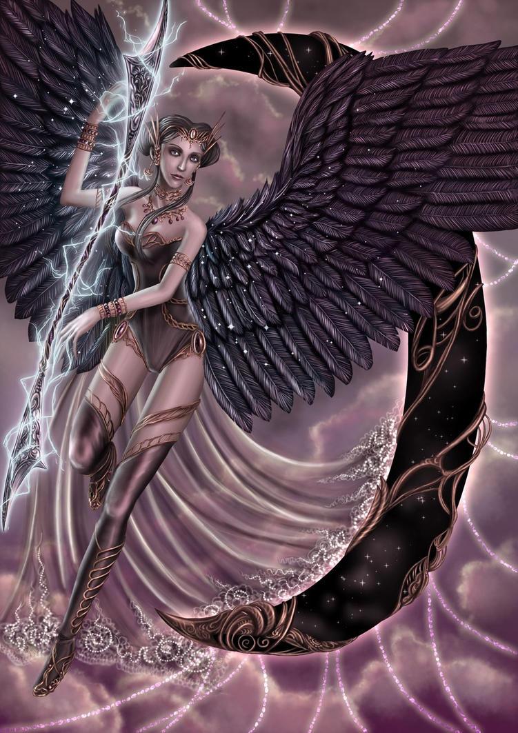Purple angel by Irulana