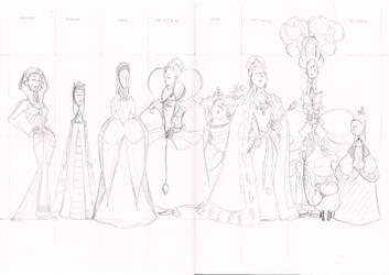 Dead Queen Detectives Commission Pencils by BevisMusson