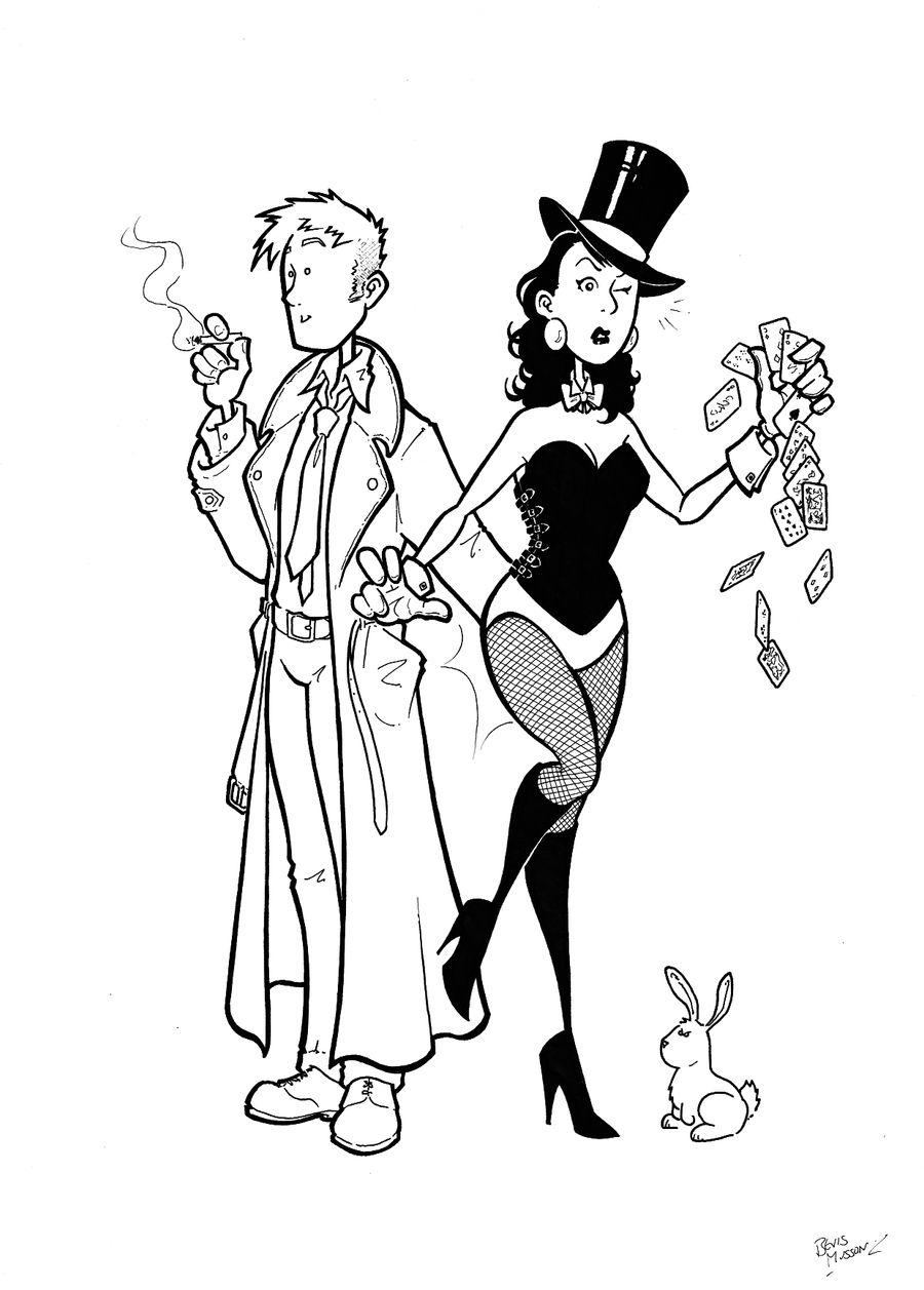 Constantine and Zatanna