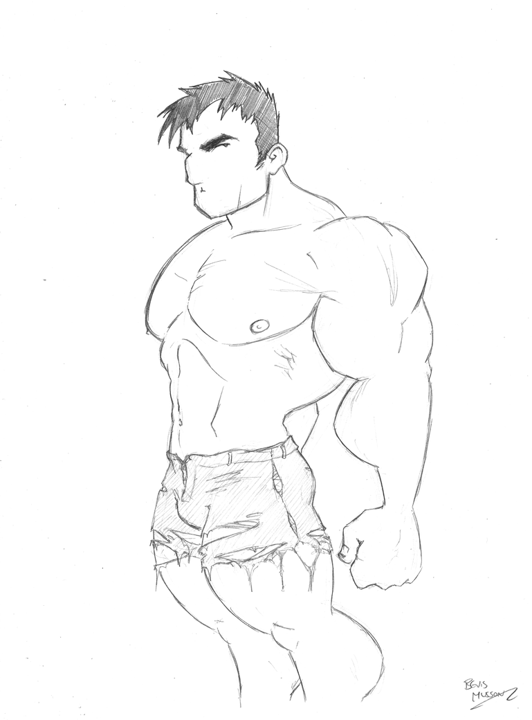 Hulk Sketch by BevisMusson