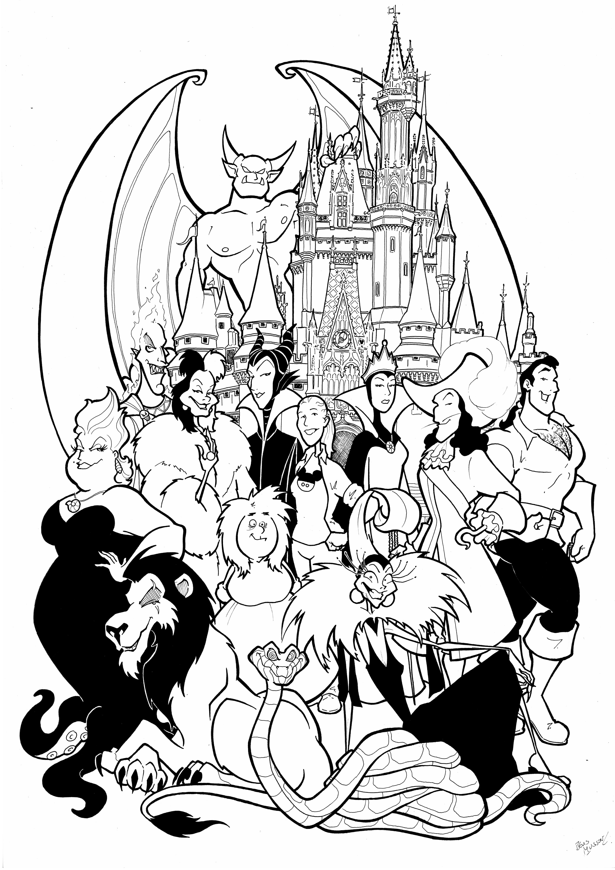 Disney Villains Commission by BevisMusson