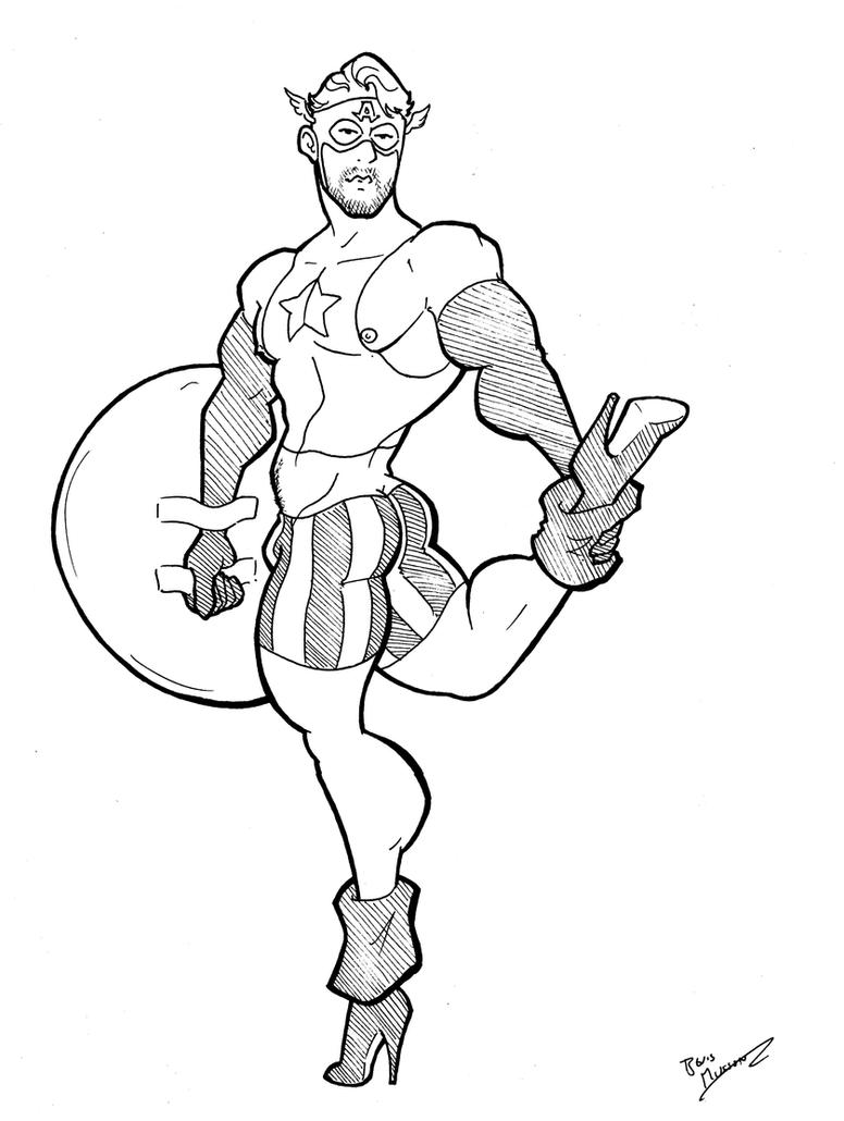 Marvel In Heels - Captain America by BevisMusson